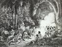 Johann Moritz Rugendas veio para o Brasil em 1821, integrando a Expedição Langsdorff como desenhista e documentarista. Em 1824, viajou para Minas Gerais e registrou paisagens, cenas de costumes e o trabalho escravo. Na volta, abandonou a expedição. Passou por Mato Grosso, Bahia e Espírito Santo, retornou ao Rio de Janeiro e seguiu para a Europa. Em 1845, retornou ao Rio de Janeiro e pintou retratos de D. Pedro II, da Imperatriz Tereza Cristina e do Príncipe D. Afonso. No ano seguinte, partiu definitivamente para a Europa. Por motivos financeiros cedeu sua coleção de desenhos e aquarelas ao Rei Ludwig I, da Baviera, em troca de uma pensão anual. <br><br> Palavras-chave: relações culturais, arte, expedição, Brasil, paisagens, escravidão, retratos.