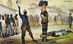 """Jean Baptiste Debret integrou a Missão Artística Francesa ao Brasil em 1816. Instalou-se no Rio de Janeiro e, a partir de 1817, tornou-se professor de pintura em seu ateliê. Em 1818, realizou a decoração para a coroação de D. João VI, no Rio de Janeiro. De 1823 a 1831, foi professor de pintura histórica na Academia Imperial de Belas Artes, no Rio de Janeiro, atividade que alternou com viagens para várias cidades do país. Deixou o Brasil em 1831, retornou a Paris onde editou o livro """"Viagem Pitoresca e Histórica ao Brasil"""", em três volumes, ilustrado com aquarelas e gravuras produzidas com base em seus estudos e observações. <br></br> Palavras-chave: relações culturais, monarquia, escravidão, costumes, retratos, arte, França."""