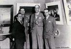 Os artistas modernistas Cândido Portinari, Antônio Bento, Mário de Andrade e Rodrigo Melo Franco: 1936. <br><br/> Palavras-chave: relações de poder, relações culturais, Modernismo, arte, Brasil.