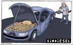 Charge espanhola sobre os biocombustíveis. <br><br/> Palavras-chave: relações de poder, relações culturais, meio ambiente.