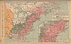 Mapa que representa as regiões colonizadas pelos britânicos na América. <br><br/> Palavras-chave: relações de poder, relações culturais, Europa, Inglaterra, América.