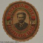 R�tulo de cerveja brasileira que homenageava o abolicionista Joaquim Nabuco. <br></br> Palavras-chave: rela��es de poder, rela��es culturais, intelectualidade brasileira.