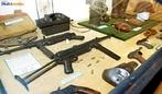 Armas utilizadas na Segunda Guerra Mundial, exemplares expostos no Museu do Expedicion�rio em Curitiba - Paran�. <br><br/> Palavras-chave: rela��es de poder, For�as Armadas, Ex�rcito Brasileiro, For�a Expedicion�ria Brasileira, Armas, Museu do Expedicion�rio, Curitiba, Paran�.