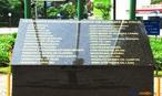 Placa em homenagem aos combatentes da For�a Expedicion�ria Brasileira que morreram nos combates em solo italiano na Segunda Guerra Mundial. Localizada na entrada do Museu do Expedicion�rio em Curitiba-PR. <br><br/> Palavras-chave: rela��es de poder, Estado, Ex�rcito brasileiro, FEB, Segunda Guerra Mundial.