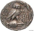 Antiguidade Clássica - moeda de Atenas