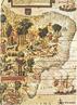 Este é um mapa clássico do território que viria a se tornar o Brasil. Geralmente apresentado em fragmentos, aqui está em sua integralidade. Fica claro em suas ilustrações qual era o principal produto extraído do futuro território brasileiro, o pau-brasil. Elementos da fauna também são destacados.<br><br/> Palavras-chave: História, Brasil, século XVI, colonização, navegações.
