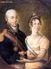 Retrato do monarca português D. João VI e sua esposa D. Carlota Joaquina.<br><br/> Palavras-chave: relações de poder, relações culturais, monarquia, Brasil, Portugal.