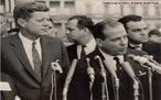 João Belchior Marques Goulart, conhecido popularmente como Jango, foi vice-presidente de Juscelino Kubitschek (1956 a 1961). Em 1961, após a renúncia de Jânio Quadros, Jango tornou-se o 24° presidente do Brasil. Governou até 1964, quando o exército brasileiro tomou o poder por meio de um golpe de Estado.<br><br/> Palavras-chave: relações de poder, poder executivo, governo, república, ditadura militar, Brasil.