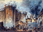 Queda da Bastilha: Em 13 de julho constituíram-se as Milícias de Paris, organizações militares-populares. No dia 14 de julho, essas milícias populares armadas invadiram o Arsenal dos Inválidos, à procura de munições e, em seguida, invadiram a Bastilha, uma fortaleza que fora transformada em prisão política, mas que já não era a terrível prisão de outros tempos. A intenção inicial dos rebeldes ao tomar a Bastilha era se apoderar da pólvora lá armazenada. Caiu assim um dos símbolos do Absolutismo. A Queda da Bastilha causou profunda emoção nas províncias e acelerou a queda dos intendentes.<br><br/> Palavras-chave: Revolução Francesa, Bastilha, prisão, milícias populares, Absolutismo.